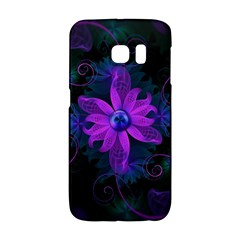 Beautiful Ultraviolet Lilac Orchid Fractal Flowers Galaxy S6 Edge