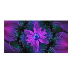 Beautiful Ultraviolet Lilac Orchid Fractal Flowers Satin Wrap