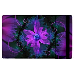 Beautiful Ultraviolet Lilac Orchid Fractal Flowers Apple Ipad Pro 12 9   Flip Case