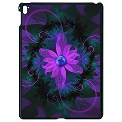 Beautiful Ultraviolet Lilac Orchid Fractal Flowers Apple Ipad Pro 9 7   Black Seamless Case