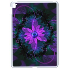 Beautiful Ultraviolet Lilac Orchid Fractal Flowers Apple Ipad Pro 9 7   White Seamless Case