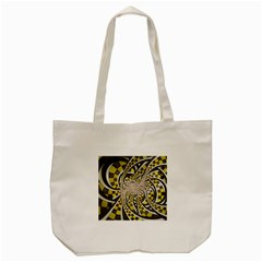 Liquid Taxi Cab, a Yellow Checkered Retro Fractal Tote Bag (Cream)
