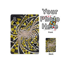 Liquid Taxi Cab, a Yellow Checkered Retro Fractal Playing Cards 54 (Mini)