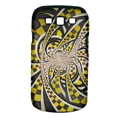 Liquid Taxi Cab, a Yellow Checkered Retro Fractal Samsung Galaxy S III Classic Hardshell Case (PC+Silicone)