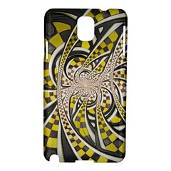 Liquid Taxi Cab, a Yellow Checkered Retro Fractal Samsung Galaxy Note 3 N9005 Hardshell Case