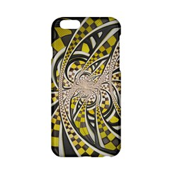 Liquid Taxi Cab, a Yellow Checkered Retro Fractal Apple iPhone 6/6S Hardshell Case