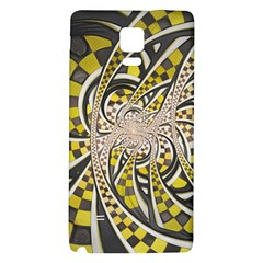 Liquid Taxi Cab, a Yellow Checkered Retro Fractal Galaxy Note 4 Back Case