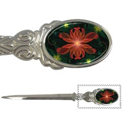 Beautiful Red Passion Flower in a Fractal Jungle Letter Openers