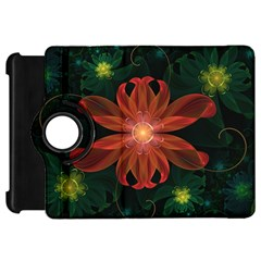 Beautiful Red Passion Flower in a Fractal Jungle Kindle Fire HD 7