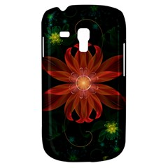 Beautiful Red Passion Flower in a Fractal Jungle Galaxy S3 Mini