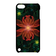 Beautiful Red Passion Flower in a Fractal Jungle Apple iPod Touch 5 Hardshell Case with Stand