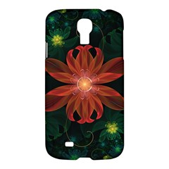 Beautiful Red Passion Flower in a Fractal Jungle Samsung Galaxy S4 I9500/I9505 Hardshell Case