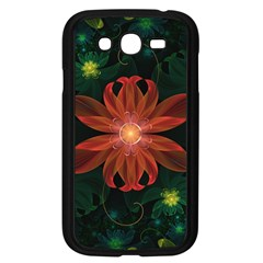 Beautiful Red Passion Flower in a Fractal Jungle Samsung Galaxy Grand DUOS I9082 Case (Black)