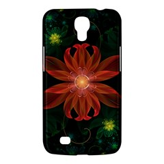 Beautiful Red Passion Flower in a Fractal Jungle Samsung Galaxy Mega 6.3  I9200 Hardshell Case