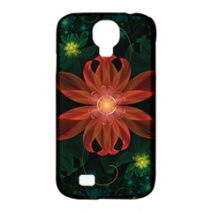 Beautiful Red Passion Flower In A Fractal Jungle Samsung Galaxy S4 Classic Hardshell Case (pc+silicone)