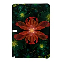Beautiful Red Passion Flower in a Fractal Jungle Samsung Galaxy Tab Pro 10.1 Hardshell Case