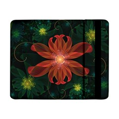 Beautiful Red Passion Flower in a Fractal Jungle Samsung Galaxy Tab Pro 8.4  Flip Case
