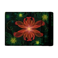 Beautiful Red Passion Flower in a Fractal Jungle iPad Mini 2 Flip Cases