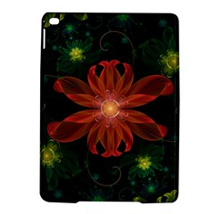Beautiful Red Passion Flower in a Fractal Jungle iPad Air 2 Hardshell Cases