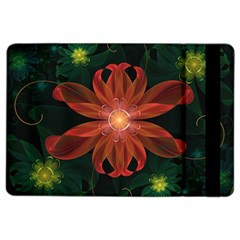 Beautiful Red Passion Flower in a Fractal Jungle iPad Air 2 Flip