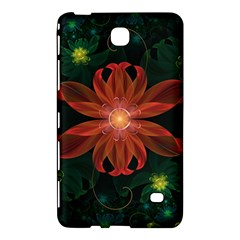 Beautiful Red Passion Flower in a Fractal Jungle Samsung Galaxy Tab 4 (7 ) Hardshell Case