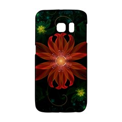 Beautiful Red Passion Flower in a Fractal Jungle Galaxy S6 Edge