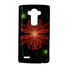 Beautiful Red Passion Flower in a Fractal Jungle LG G4 Hardshell Case