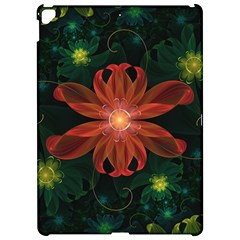 Beautiful Red Passion Flower In A Fractal Jungle Apple Ipad Pro 12 9   Hardshell Case