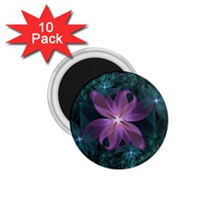 Pink and Turquoise Wedding Cremon Fractal Flowers 1.75  Magnets (10 pack)