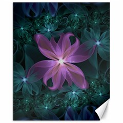 Pink and Turquoise Wedding Cremon Fractal Flowers Canvas 16  x 20