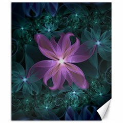 Pink and Turquoise Wedding Cremon Fractal Flowers Canvas 20  x 24