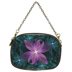 Pink and Turquoise Wedding Cremon Fractal Flowers Chain Purses (Two Sides)