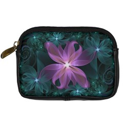 Pink and Turquoise Wedding Cremon Fractal Flowers Digital Camera Cases