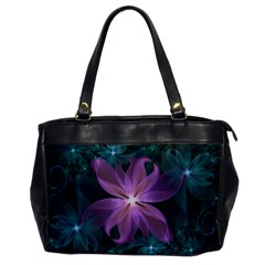 Pink and Turquoise Wedding Cremon Fractal Flowers Office Handbags