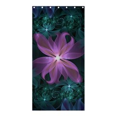Pink and Turquoise Wedding Cremon Fractal Flowers Shower Curtain 36  x 72  (Stall)