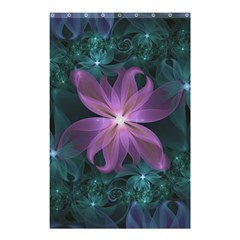Pink and Turquoise Wedding Cremon Fractal Flowers Shower Curtain 48  x 72  (Small)