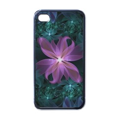 Pink and Turquoise Wedding Cremon Fractal Flowers Apple iPhone 4 Case (Black)