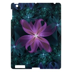 Pink And Turquoise Wedding Cremon Fractal Flowers Apple Ipad 3/4 Hardshell Case