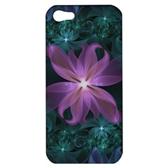 Pink And Turquoise Wedding Cremon Fractal Flowers Apple Iphone 5 Hardshell Case