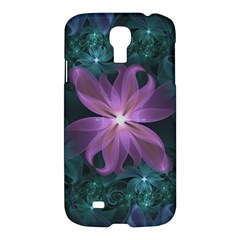 Pink and Turquoise Wedding Cremon Fractal Flowers Samsung Galaxy S4 I9500/I9505 Hardshell Case