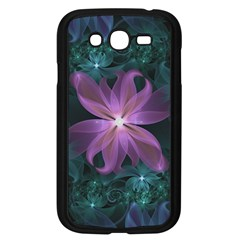 Pink and Turquoise Wedding Cremon Fractal Flowers Samsung Galaxy Grand DUOS I9082 Case (Black)