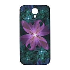 Pink and Turquoise Wedding Cremon Fractal Flowers Samsung Galaxy S4 I9500/I9505  Hardshell Back Case