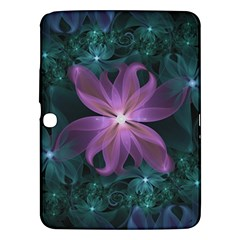 Pink and Turquoise Wedding Cremon Fractal Flowers Samsung Galaxy Tab 3 (10.1 ) P5200 Hardshell Case