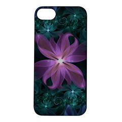 Pink and Turquoise Wedding Cremon Fractal Flowers Apple iPhone 5S/ SE Hardshell Case