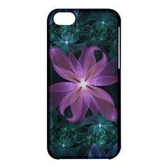 Pink and Turquoise Wedding Cremon Fractal Flowers Apple iPhone 5C Hardshell Case