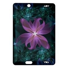 Pink And Turquoise Wedding Cremon Fractal Flowers Amazon Kindle Fire Hd (2013) Hardshell Case