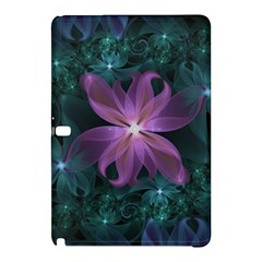 Pink and Turquoise Wedding Cremon Fractal Flowers Samsung Galaxy Tab Pro 12.2 Hardshell Case