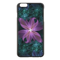 Pink and Turquoise Wedding Cremon Fractal Flowers Apple iPhone 6 Plus/6S Plus Black Enamel Case