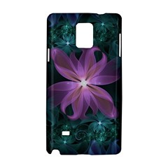 Pink and Turquoise Wedding Cremon Fractal Flowers Samsung Galaxy Note 4 Hardshell Case