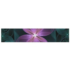 Pink and Turquoise Wedding Cremon Fractal Flowers Flano Scarf (Small)